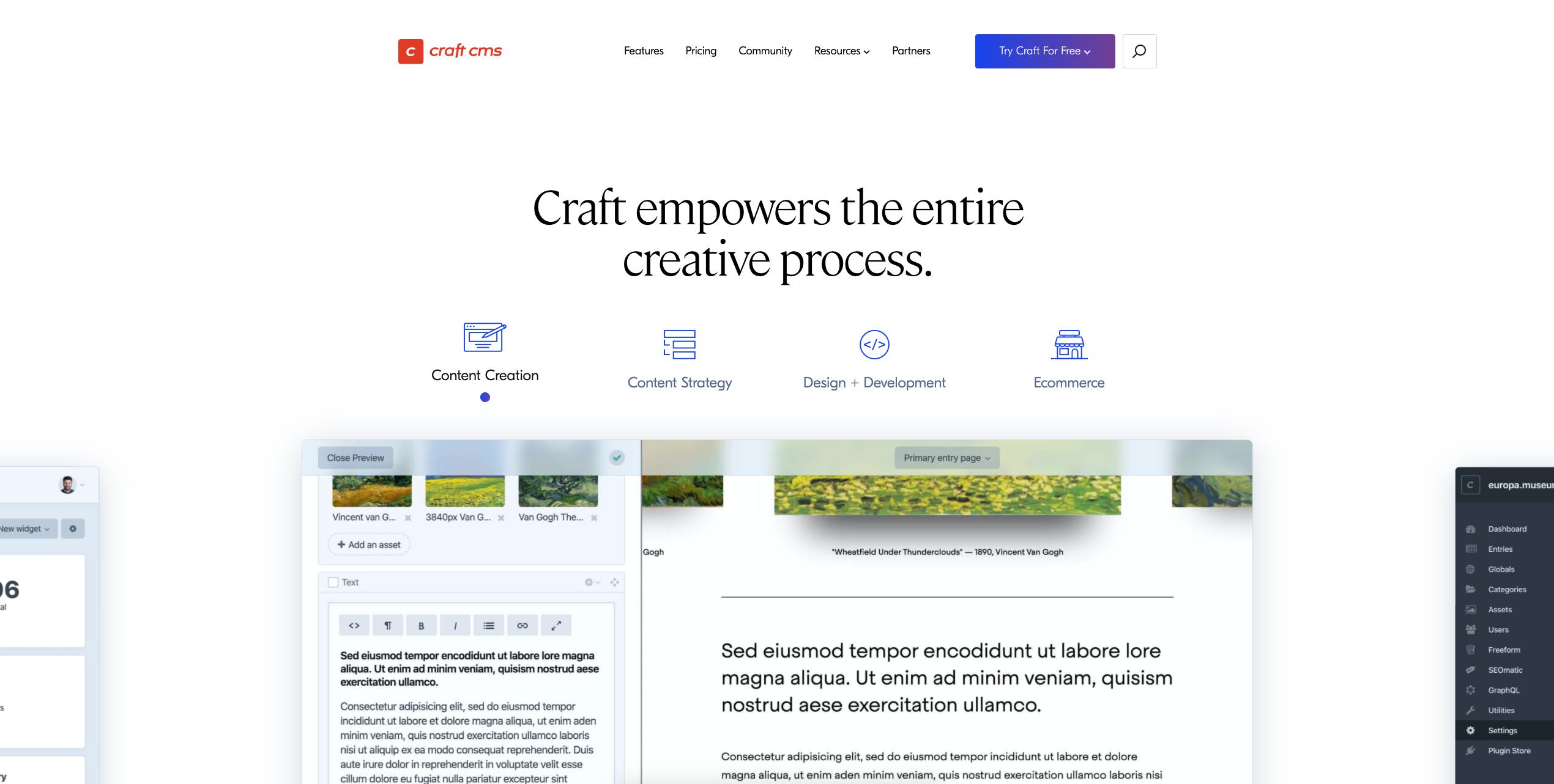 Craft CMS website